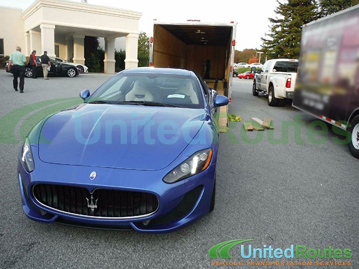 Shipping a Maserati in an Enclosed Trailer
